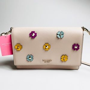 NWT Kate Spade tan/ pink cross body Bag w/ Studs